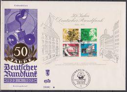 Berlin FDC 1973 Nr.455 - 458 Block 4 50 Jahre Deutscher Rundfunk ( Dg 177 ) Günstige Versandkosten - FDC: Briefe