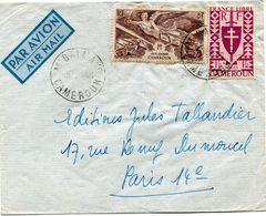 CAMEROUN FRANCE LIBRE LETTRE DEPART M'BALMAYO 5-?-48 CAMEROUN POUR LA FRANCE - Cameroun (1915-1959)
