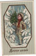 CPA - Carte Gaufrée  - Enfants - Neige - 1900-1949
