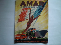 Programme Cirque AMAR Bon Etat Années 50/60 - Programs
