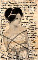 CPA Kirchner Raphaël Art Nouveau Femme Girl Women Circulé En 1901 - Kirchner, Raphael