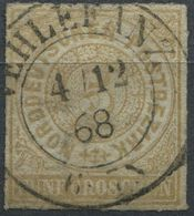 NDP 5 Gr Freimarke Michel 6 Gestempelt, K2 VEHLEFANZ, Eckbug Oben Rechts (1-418) - North German Conf.