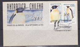 Chile 1992 Antarctica / Penguins 2v FDC  (F6881) - Postzegels