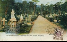 30806 Hong Kong,  Post Card Not Circuled 1907 Showing  The Roman Catholic Cemetery In Happy Valley Hongkon  (see 2 Scan) - Hong Kong (...-1997)