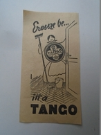 OK46.14  Hungary  Old  Advertising Paper Item TANGO - Advertising