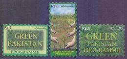 PAKISTAN 2018 - GREEN PAKISTAN PROGRAMME, Plants Hands, Complete Set Of 3 Stamps MNH - Pakistan