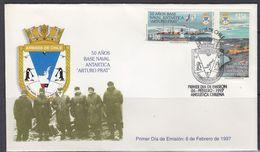 Chile 1997 Antarctica / Base Arturo Prat 2v FDC (F6883) - Chili
