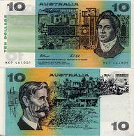 AUSTRALIA       10 Dollars       P-45g       ND (1991)       UNC - 1974-94 Australia Reserve Bank (paper Notes)