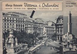 ALBERGO RISTORANTE VITTORIA & OLANDINI. GENOVA. DIRETTORE: OTTAVIO SEJMAND. GRAFICHE MARIO SEJMAND.-RARE-TBE-BLEUP - Hotel's & Restaurants