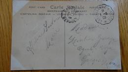 Cachet Convoyeur Sur CP Cite De Carcassonne Aude 1909 - Marcophilie (Lettres)