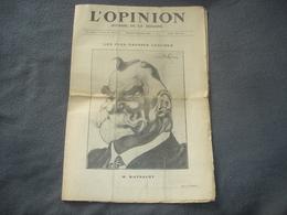 Journal De La Semaine L'Opinion N° 78  Les Plus Grosses Légumes  M.Raynaldy - Journaux - Quotidiens