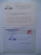 Brief Met Inhoud  Aan Madame René Van Straaten  Uitnodiging Van ( U.F.A.C. 1914 -1918) - 1914-18