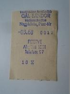 OK46.15  Hungary  Small Bill -receipt Gál Sándor Nagykörös  Rare Machine Bon For Goods  Ironware From 1940's - Advertising