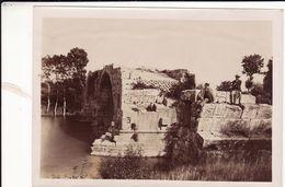 Photo 1898 GALLARGUES-LE-MONTUEUX - Ruines Du Pont Romain Sur Le Vidourle, Pont Ambroix (A188) - Gallargues-le-Montueux