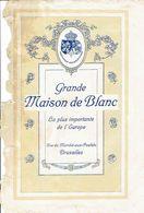 """Catalogue """" Grande Maison De Blanc """" Bruxelles - 25 X 17 Cm - Publicités"""