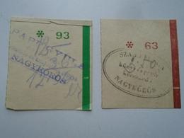 OK46.16  Hungary  Small Bill -receipt Szabó  Book Store -  Papp Gyula  Nagykörös Machine Factory  From 1940's - Advertising