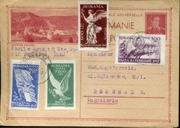 30815 Romania, Circuled Card 1947 To Jugoslavia, Showing Monastery Of Sucevitza - 1918-1948 Ferdinand, Charles II & Michael