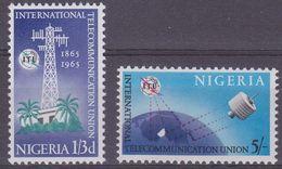 Nigeria 1965 ITU / Space 2v ** Mnh (37628) - Nigeria (1961-...)
