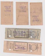 OK46.17  Hungary   5 Pcs Of Small Bill -receipt  Fülöp Béla  Vaskereskedö  Kecskemét   Ironware  From 1940 - Advertising