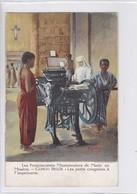 LES FRANCISCAINES MISSIONNAIRES DE MARIE EN MISSION. CONGO BELGE. LES PETITS CONGOLAIS A L'IMPRIMERIE.-RARE-TBE-BLEUP - Belgisch-Congo - Varia