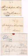 Portugal, 1828, 3 Cartas Com Carimbo De Lisboa - Portugal