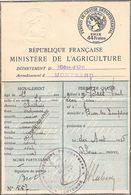 Permis De Chasse Departemental Cote D'or 1928 Avec 4 Timbres Fiscaux 1930-31-32-33 - Documents Historiques