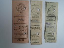 OK46.19  Hungary  3 Pcs Of Soltszentimre - Budapest Kecskemét  Parcel Receipt  Cash On Delivery   From 1948 - Facturas & Documentos Mercantiles