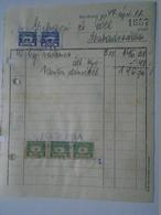 OK47.1  Hungary Invoice - Fülöp Béla Kecskemét -Gubacsi Szabadszállás 1949 - Tax Stamps - Facturas & Documentos Mercantiles