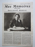 Mes Mémoires (1914-1915) Par EMILIENNE MOREAU (l'Héroïne De LOOS) Supplément Au N°107 Du Miroir / Le 12/12/1915 - Guerre 1914-18