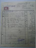 OK47.3  Hungary Invoice - Fülöp Béla Kecskemét -Gubacsi Szabadszállás 1949 - Tax Stamps - Facturas & Documentos Mercantiles