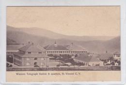 WESTERN TELEGRAPH STATION & QUARTERS, ST VINCENT CV.-RARE-TBE-BLEUP - Cape Verde