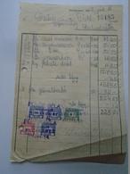 OK47.5  Hungary Invoice - Fülöp Béla Kecskemét -Gubacsi Szabadszállás 1949 - Tax Stamps - Facturas & Documentos Mercantiles