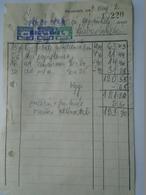OK47.6  Hungary Invoice - Fülöp Béla Kecskemét -Gubacsi Szabadszállás 1949 - Tax Stamps - Facturas & Documentos Mercantiles