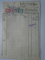 OK47.7  Hungary Invoice - Fülöp Béla Kecskemét -Gubacsi Szabadszállás 1949 - Tax Stamps - Facturas & Documentos Mercantiles