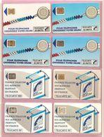 France, Lot De 8 Télécartes, TB - Télécartes