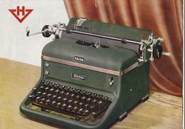 Dépliant Publicité En Deux Volets Machine à écrire Halda - Publicités