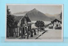BEATENBERG → Bergbahnstation Und Bahnhofbuffet Mit Touristen Und Oldtimer, Ca.1935 - BE Berne