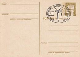 B PP 59 Postkarte Mit Antwortkarte 15 + 0,00 Pf Bundespräsident Heinemann, Berlin 12 - Postales - Usados