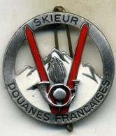 Insigne Douane Française,skieur ___drago - Police & Gendarmerie