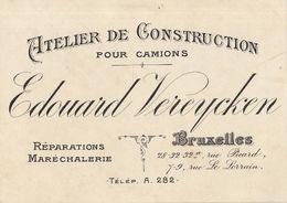 Carte Vereycken Atelier De Construction Camion Maréchalerie à Bruxelles - Levensmiddelen