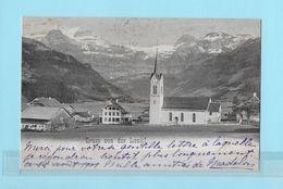 LENK → Dorfansicht Im Bereich Der Kirche Anno 1901 - BE Berne