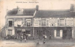 """¤¤  -  CHANGE   -   Place De L'Eglise   -  Hôtel Du Cheval Blanc """" BRAULT """"    -  ¤¤ - France"""