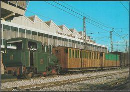 FMGP Locomotora No 2, Cremallera De Montserrat - Ferroviaries Tarjeta - Trains