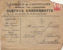 Enveloppe Imprimerie Typographie Lithographie Vandermotte Saint Gilles - Publicités