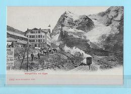 WENGERNALPBAHN → Station Wengernalp, Einfahrender Zug Und Viele Passanten, Ca.1910 - BE Berne