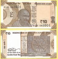 India 10 Rupees P-new 2017 (2018) Letter R   UNC - India