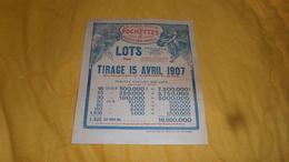 PUBLICITE ANCIENNE DE 1907. / LA PLUS RICHE DES POCHETTES. TIRAGE 15 AVRIL 1907.../ CREDIT FONCIER DE FRANCE - Lottery Tickets