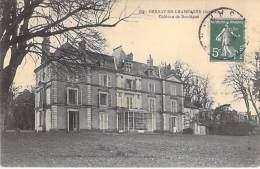 ** Lot De 2 Cartes ** 72 - BERNAY EN CHAMPAGNE : Chateau De BORDIGNE Et Bords De La Vègre  - 1 CPA 1 CPSM PF - Sarthe - Altri Comuni