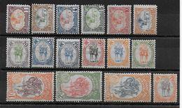 COTES DES SOMALIS - YT N° 37/52 * CHARNIERE LEGERE (LE 5F Est **)  - MH - COTE = 330 EUR. - French Somali Coast (1894-1967)