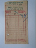 OK47.12  Hungary Gombaszögi László Ironware Budapest  1940's - Unclassified